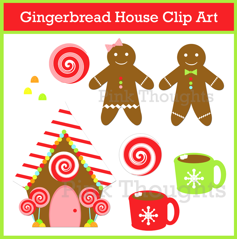 christmas clip art gingerbread house - photo #36
