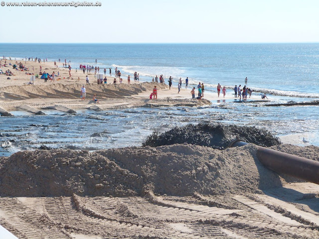 Sandaufspülung auf Sylt in Westerland am Strand