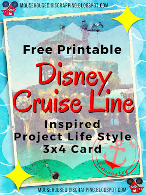 """""""Pelican Plunge - Castaway Cay"""" Disney Cruise inspired Project Life style 3x4 Card Pin 1"""