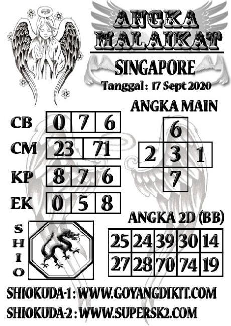 Kode syair Singapore Kamis 17 September 2020 116