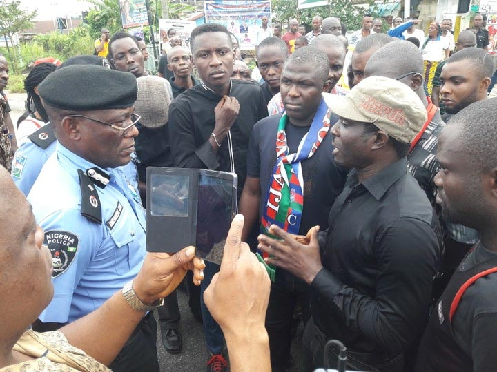Bayelsa youths protest police brutality, extrajudicial killing of Innocent Kokorifa