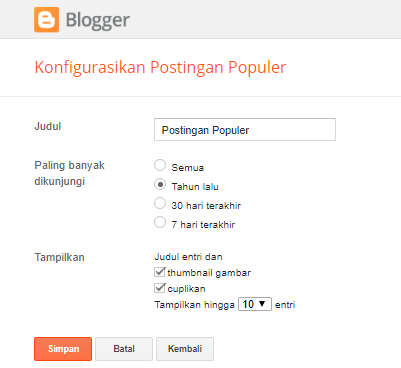 Cara Membuat Popular Post Di Blog Dengan Thumbnail