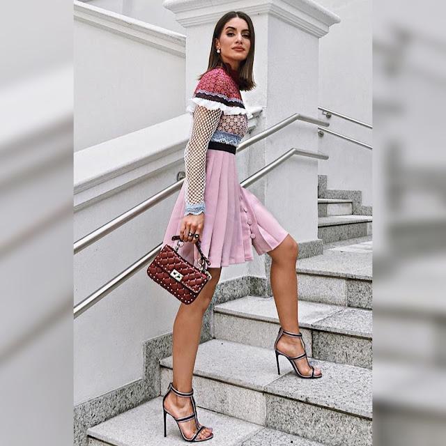 Μακρυμάνικο κοντό χρωματιστό φόρεμα KRISI