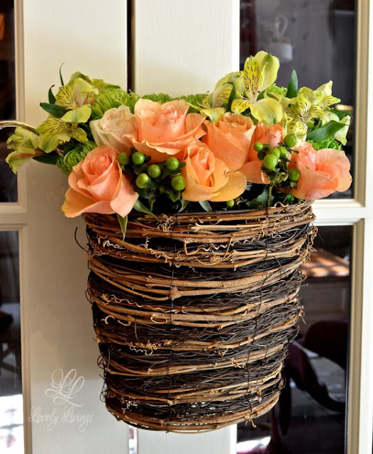 Lovely Livings-Hanging Flower Basket-From My Front Porch To Yours-Treasure Hunt Thursday
