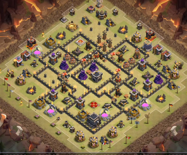 Best TH9 War Base Designs