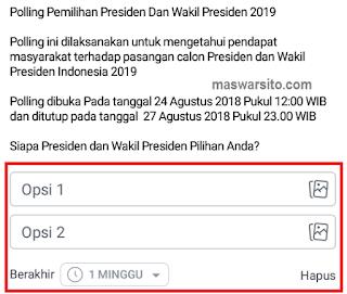cara buat polling di facebook