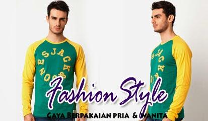 Model Baju Kaos Pria Lengan Panjang Urban Tee LS Org by Jack & Jones