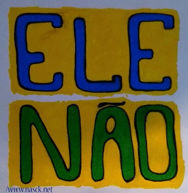 Nasck - Stickers - #ELENAO - ELE NAO