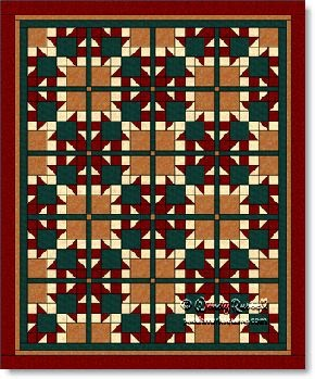 'Arrows' quilt design - image © W. Russell, patchworksquare.com