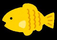 小魚のイラスト(黄色)