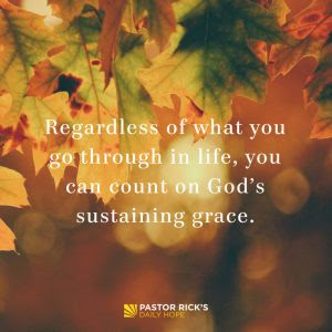 How Does God's Grace Get You Through? by Rick Warren