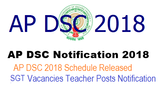 AP DSC 2018 Notification Schedule Released – 9,270 Vacancies Teacher Posts Notification