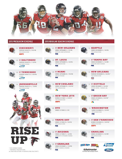 falcons schedule 2018 home games