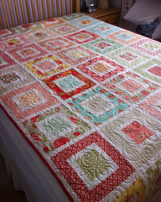 Square in a Square Quilt made by Andria Duello using Marmalade by Bonnie & Camille, The Free Tutorial designed by Jenny of Missouri Quilt Co