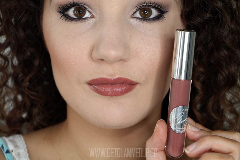 BECCA x Chrissy Teigen Glow Lip Gloss Malibu Soleil Swatch