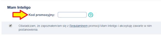 Gdzie wpisać kod polecenia podczas otwierania Konta Inteligo z premią 100 zł