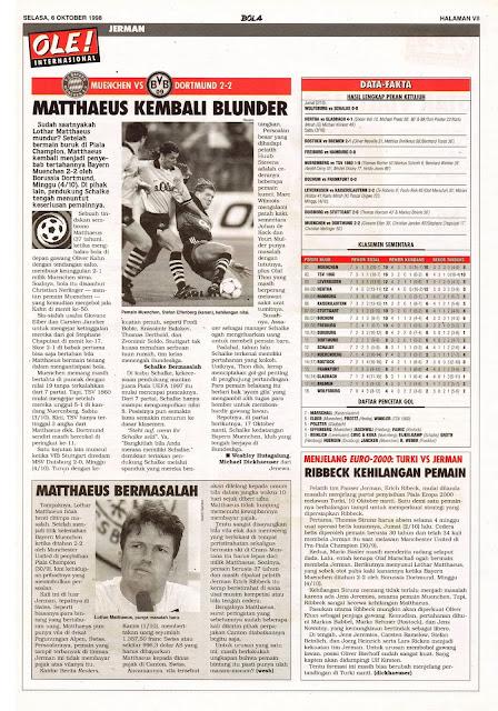 GERMANY LEAGUE 1998 BAYERN MUENCHEN VS BORUSSIA DORTMUND 2-2