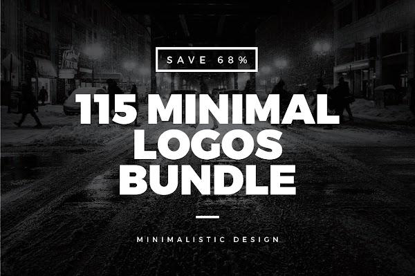 115 logos vintage  minimalistas