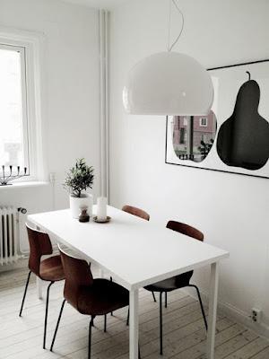 40 Inspirasi Sederhana Ruang Makan Gaya Skandinavia