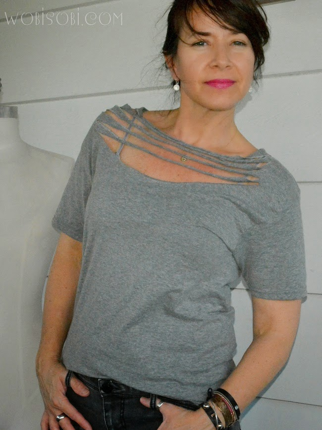 wobisobi necklace tee shirt diy. Black Bedroom Furniture Sets. Home Design Ideas