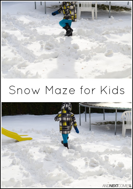 Winter activity for kids: make a snow maze from And Next Comes L
