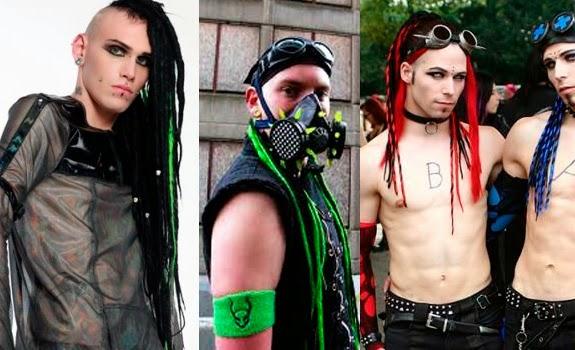 Estilo Cyber Goth Masculino