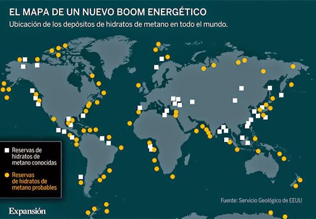 O mapa de um futuro boom energético.