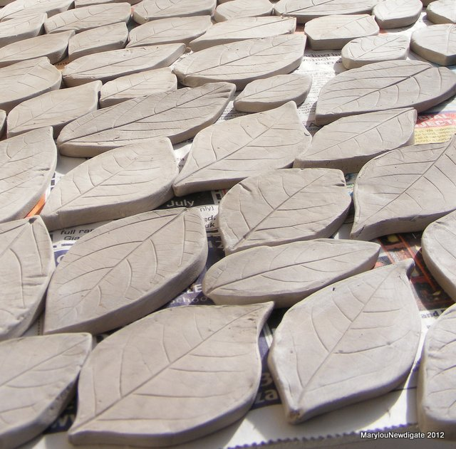 How To Mosaic And Make Beautiful Objects For Home Garden Using Ceramic Leaf Shapes