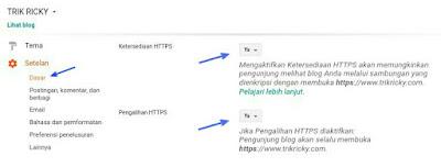 Setting Https Untuk Custom Domain Blogger