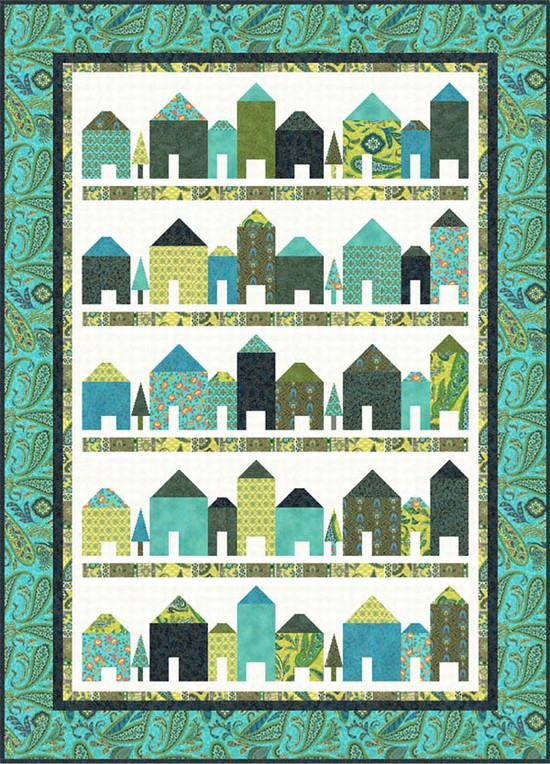 Quilt Block Patterns Of Houses : Free pattern day! House quilts Quilt Inspiration Bloglovin