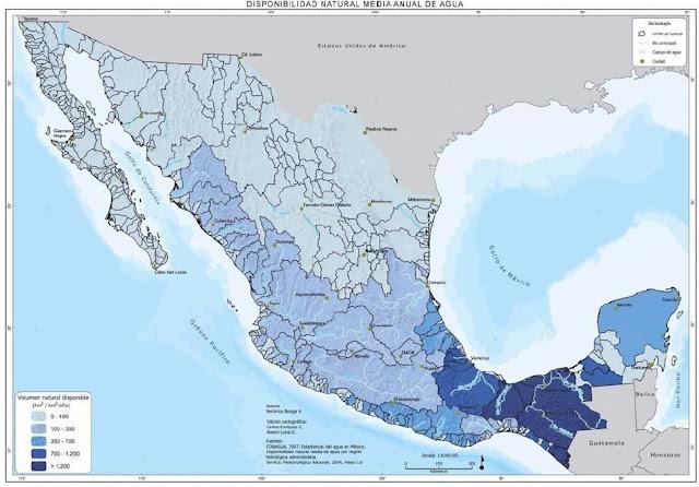 Riqueza hídrica de México