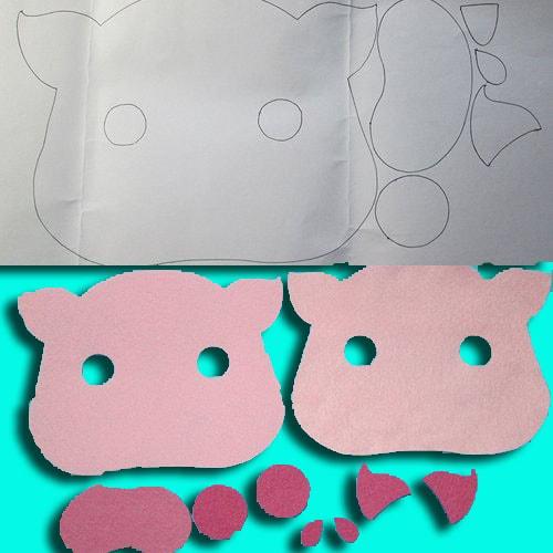 Cách làm đồ chơi trung thu bằng giấy - mặt nạ thú bằng vải