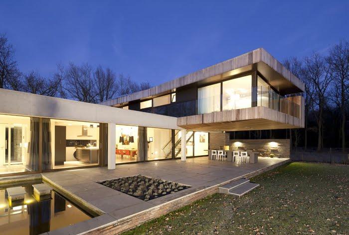 Casas minimalistas y modernas casa minimalista en el bosque for Casa minimalistas