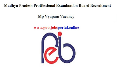 Mp Vyapam Vacancy - MPPEB Recruitment