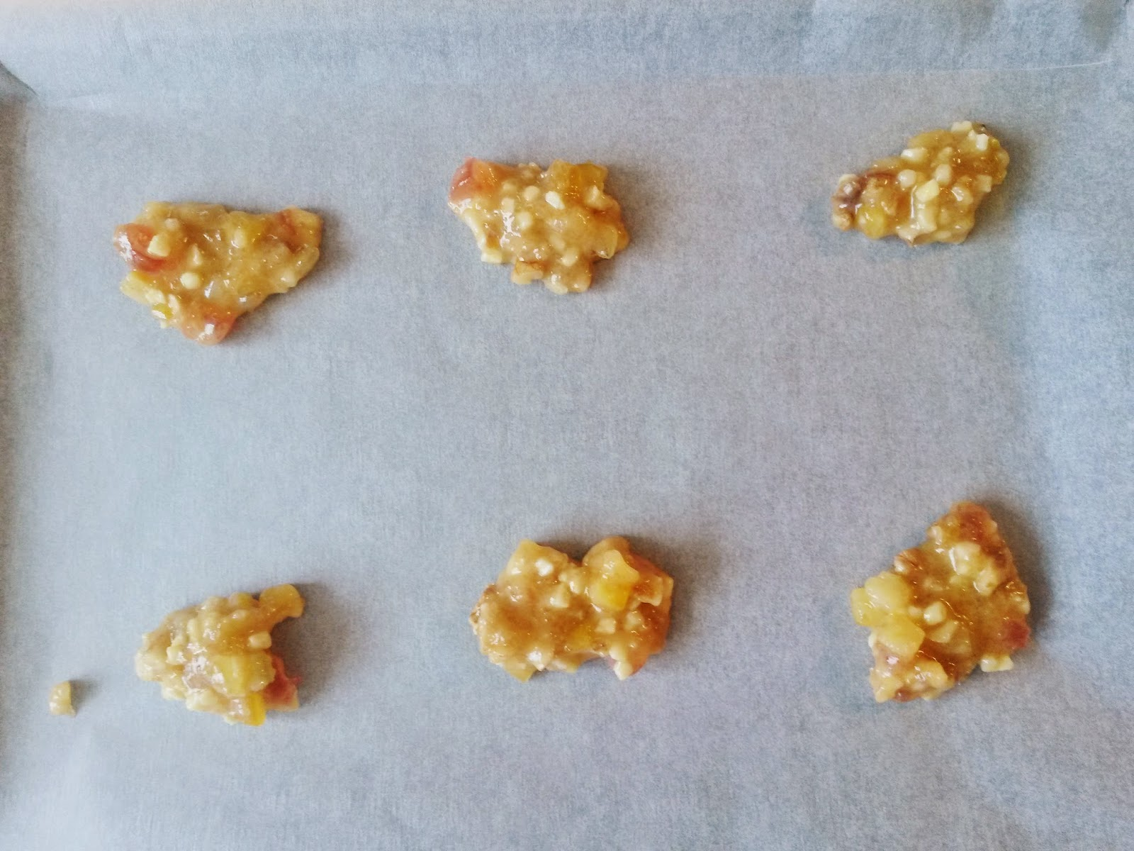 Baking florentines, homemade biscuits