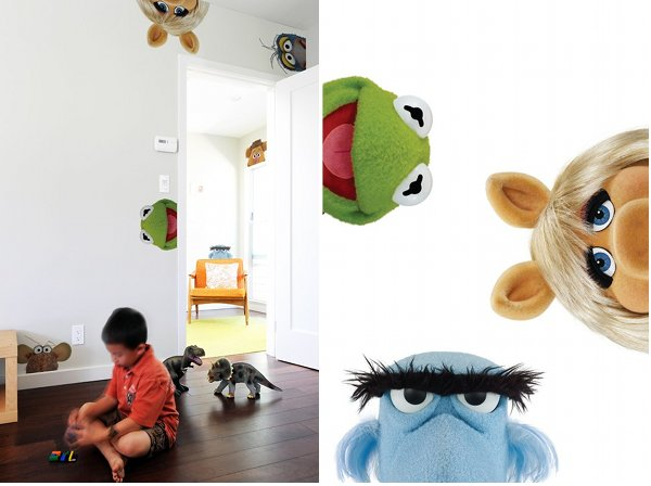 Peeking Muppets Wall Decals