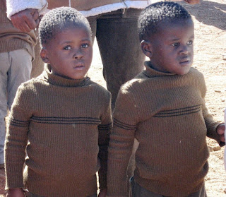 Twins in Natitingou, Benin Africa 1978