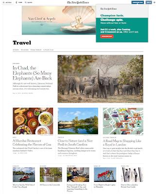 majalah online terbaik The New York Time Traveler Magazine