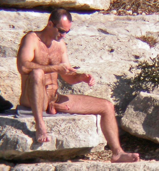 nudist beach spy boner
