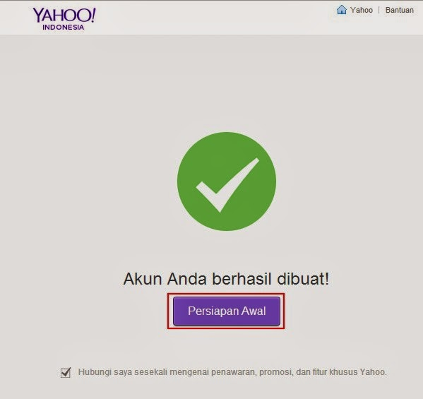 Yahoo! Mail Persiapan Awal