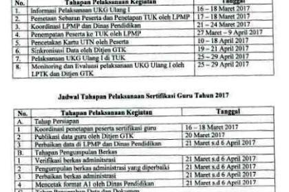 Jadwal Tahapan Pelaksanaan Sertifikasi Guru Tahun 2017 Lengkap