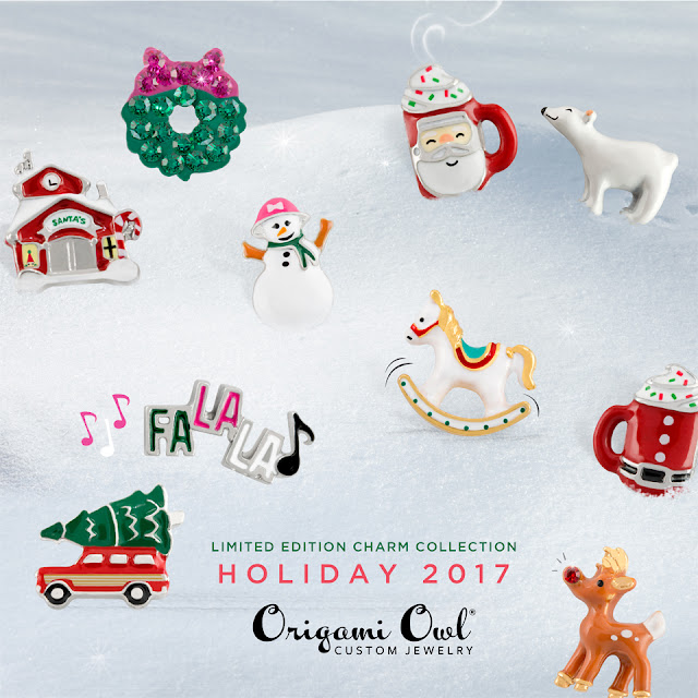 Origami Owl Holiday 2017 Charm Collection available at StoriedCharms.com