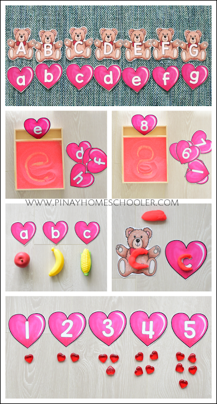 Valentine's Day Letter and Number Cards