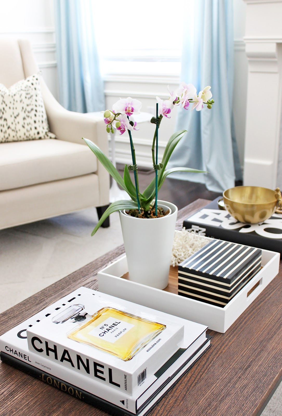 Books Decor Am Dolce Vita Chanel And Phalaenopsis Orchid