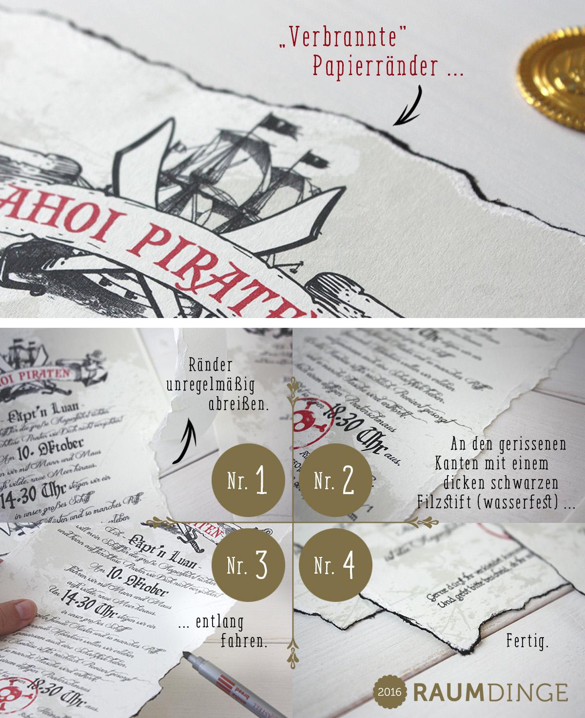 raumdinge: wir feiern! – die piraten-mottoparty  teil 1: die, Einladung