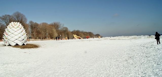 The Winter Stations Design Competition at The Beaches in Toronto, art, installations, kew, balmy, warm, culture, artmatters, snow, lake ontario, exhibit, exhibition, the purple scarf, melanie.ps, canada