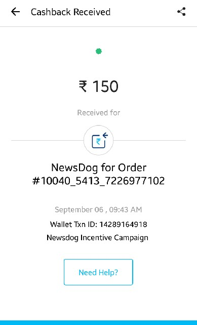 Newsdog paytm cash