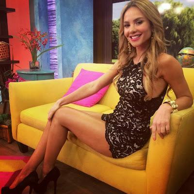 Fotos Ximena Córdoba vestido de encaje
