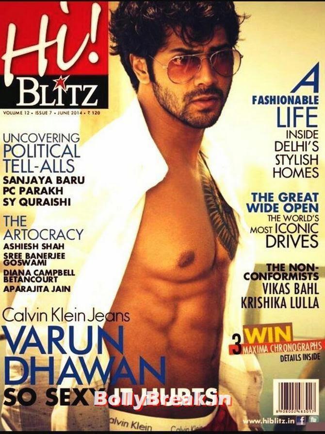Varun Dhawan, Bollywood Actors Hot & Sexy Pics on Magazine Covers